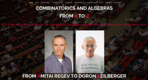 COMBINATORICS AND ALGEBRAS FROM A TO Z